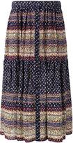 Sea patterned pleated skirt - women - Silk - 8