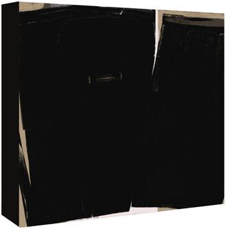 American Flat Americanflat Black Abstract By Kasi Minami Canvas Artwork