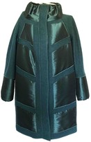 Adolfo Dominguez Green Wool Coat for Women