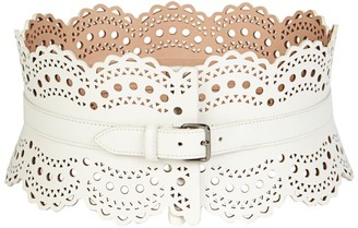 Alaia Mini Vienne Leather Corset Belt