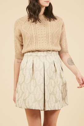 Frnch Cable Knit Elbow Sleeve Sweater