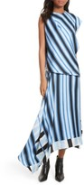 Diane von Furstenberg Women's Asymmetrical Stripe Silk Maxi Dress