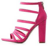 Charlotte Russe Bamboo Strappy Block Heel Sandals