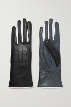 Isabel Marant Bocker Color-block Leather Gloves - Black