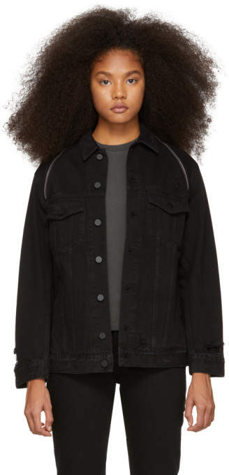 Alexander Wang Black Denim Daze Zip Jacket