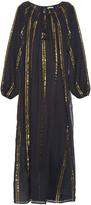 Mes Demoiselles Byzantine striped cotton-gauze dress