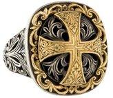 Konstantino Two-Tone Daphne Cross Ring