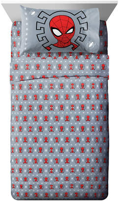 Marvel Spiderman 3 Piece Twin Sheet Set Bedding