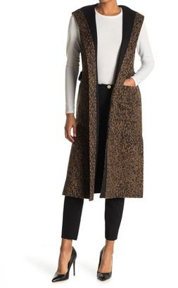 BCBGMAXAZRIA Wool Blend Reversible Hooded Vest