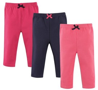 Luvable Friends Baby Girl Pants, 3 pack