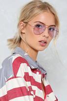 Nasty Gal nastygal Stayin' Alive Tinted Aviator Glasses