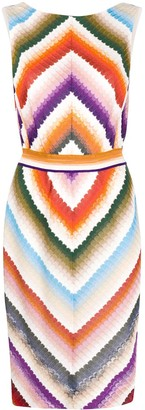 Missoni Striped Belted Dress