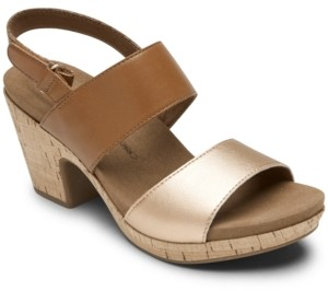 Rockport Vivianne Metallic Dress Sandals Women's Shoes