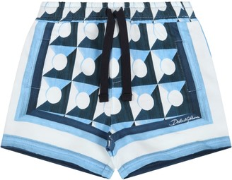 Dolce & Gabbana Light Blue Short For Babyboy With Prints