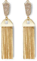 Vince Camuto Pave Crystal Tassel Drop Clip-On Earrings