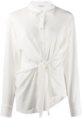 P.A.R.O.S.H. pointed collar tie-waist shirt