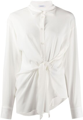 P.A.R.O.S.H. Pointed Collar Tie-Waist Shirt