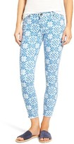 KUT from the Kloth Women's Connie Print Fray Hem Ankle Skinny Jeans
