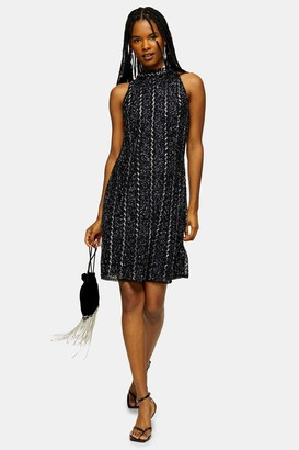 Lace & Beads Womens **Navy Embellished Mini Dress By Navy Blue