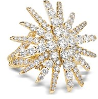 David Yurman Pave Diamond Starburst Statement Ring in 18K Yellow Gold