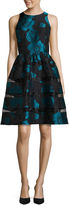 Ronni Nicole RN Studio by Sleeveless Floral Fit-and-Flare Dress W/Sheer Insets