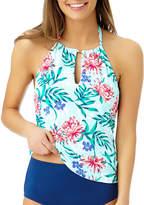 Liz Claiborne Floral Tankini Swimsuit Top
