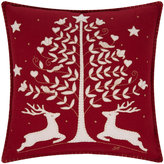 Jan Constantine Red Folklore Deer Cushion - 46x46cm