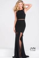Jovani Sleeveless Black Fitted Prom Dress JVN40483