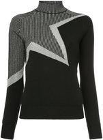 Thierry Mugler colourblock roll-neck sweater