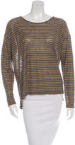 Closed Striped Linen Top