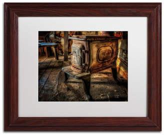 "Lois Bryan 'Liberty Wood Stove' Matted Framed Art - 11"" x 14"""