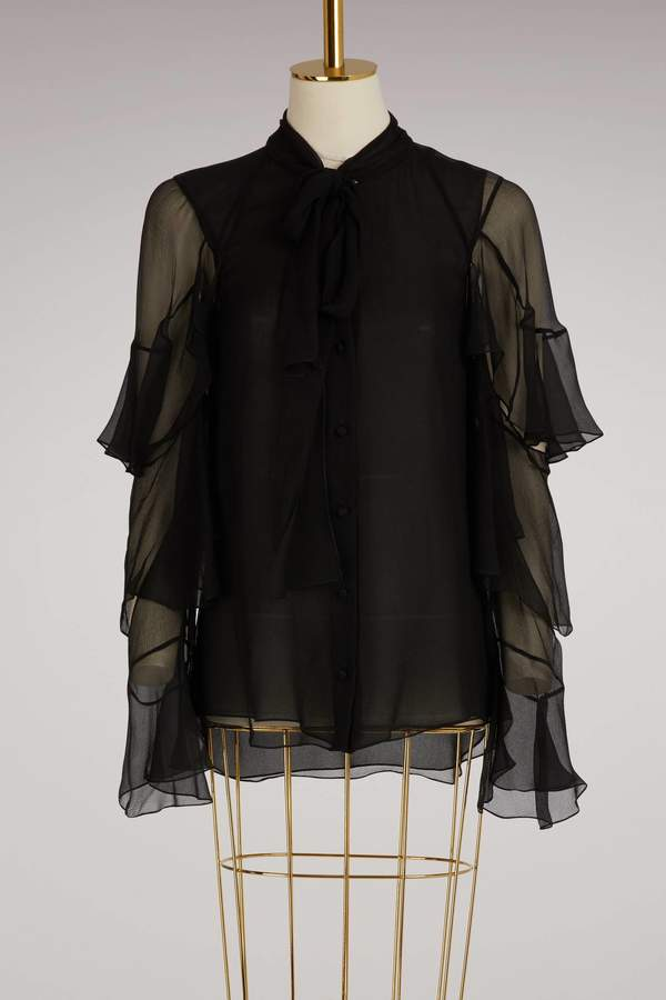 Chloé Ruffled silk shirt