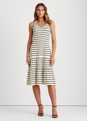 Ralph Lauren Tiered Cotton-Blend Midi Dress