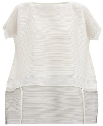 Pleats Please Issey Miyake Stone Gradation Technical-pleated Top - Light Grey