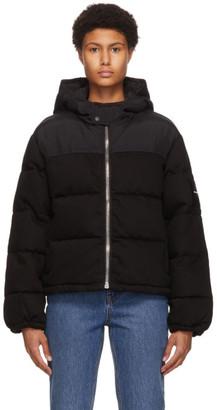Alexander Wang Black Hybrid Puffer Jacket