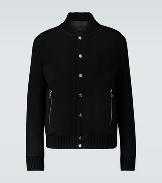 Balmain Wool and cashmere blend bomber jacket