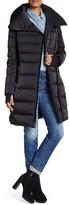 Vera Wang Asymmetrical Zip Down Puffer Coat