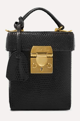 Mark Cross Grace Small Lizard Tote - Black