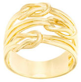Lord & Taylor Goldtone Triple Love Knot Ring