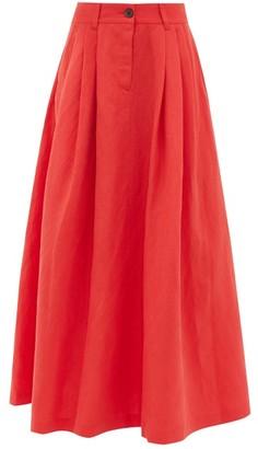 Mara Hoffman Tulay Pleated Tencel-blend Midi Skirt - Red