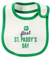 "Carter's My First St. Paddy's Day"" Bib in White"