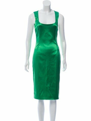Dolce & Gabbana Sleeveless Midi Dress Green