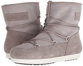 Moon Boot Far Side Low Suede (Light Grey) Women's Boots