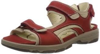 Waldläufer Women's Herki Sling Back Sandals Multicolour (Denver Cherry Corda 988) 8.5 UK