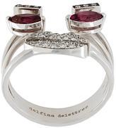 Delfina Delettrez face detail embellished ring