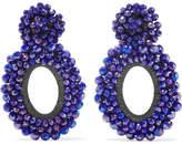 Bibi Marini Primrose Bead And Silk Earrings - Violet
