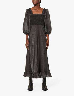 Ganni Striped woven maxi dress