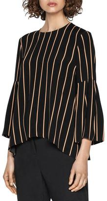 Cue Stripe Bell Sleeve Top