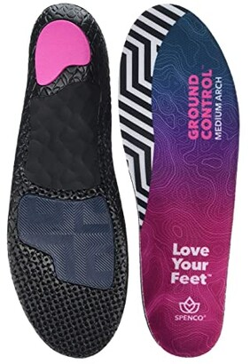 Spenco Ground Control Medium Arch (Black) Insoles Accessories Shoes