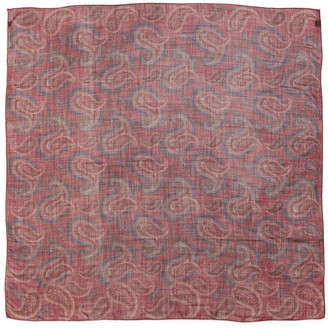 Saint Laurent Grand Carr Paisley Wool Scarf